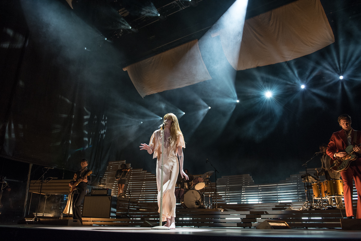 Florence + the Machine performing at the Harveys Lake Tahoe outdoor concert venue on Thursday, Aug. 10.