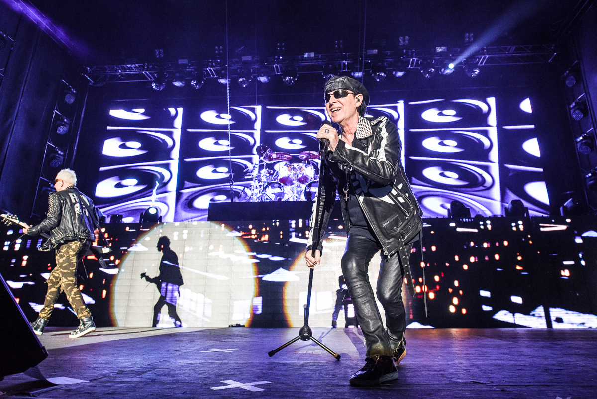Klaus Meine of The Scorpions performing at the Harveys Lake Tahoe outdoor concert venue on Friday, Aug. 31.