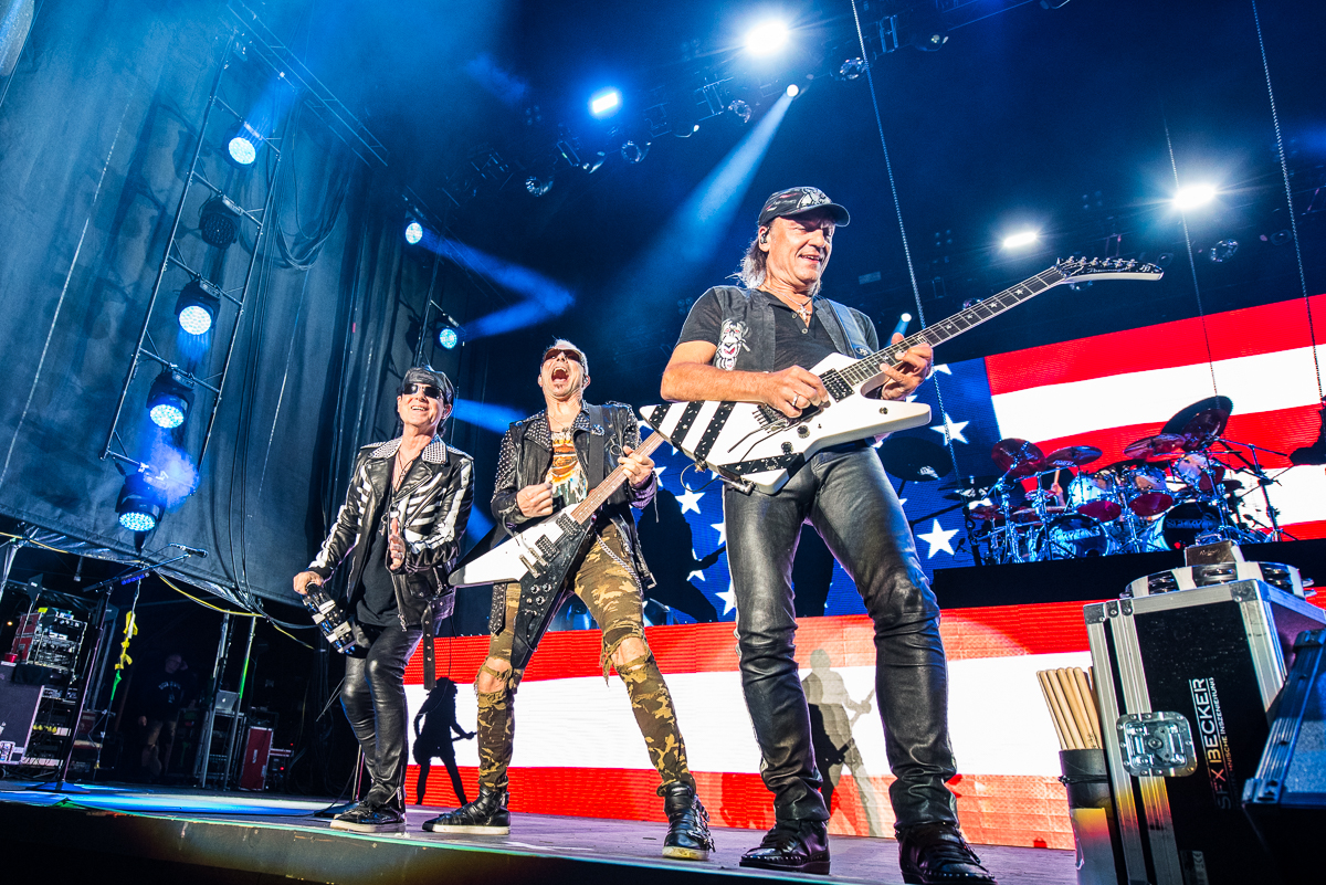 The Scorpions performing at the Harveys Lake Tahoe outdoor concert venue on Friday, Aug. 31st.
