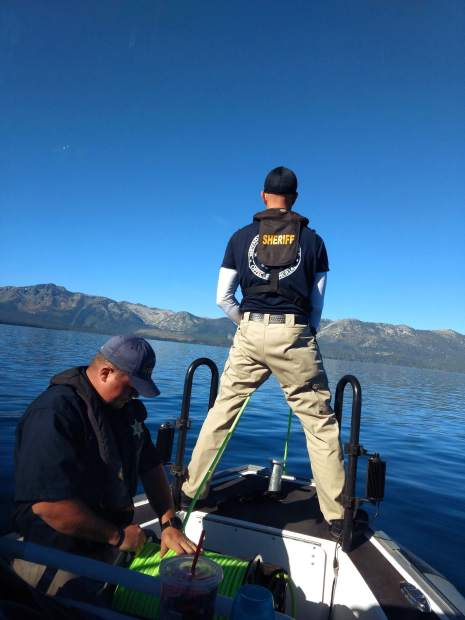 DCSO Marine unit operating ROV.