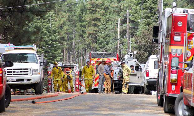 Fire personnel swarmed to a house fire on Lodgepole Trail during a red flag warning in the basin.