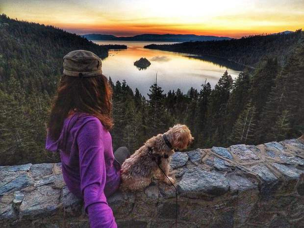 My dog Skipper and I are into sunrise and sunsets like this amazing view in Lake Tahoe. We can't wait to get back into the mountains after the forest fires are no longer a threat to our land, wildlife, and everyone who lives in or visits California mountain ranges. I have bronchitis therefore I can't be breathing in heavy concentration of particulate matter.