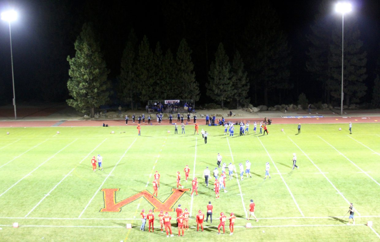 A view from the new press box at Whittell's Lisa Maloff Athletic Facility.