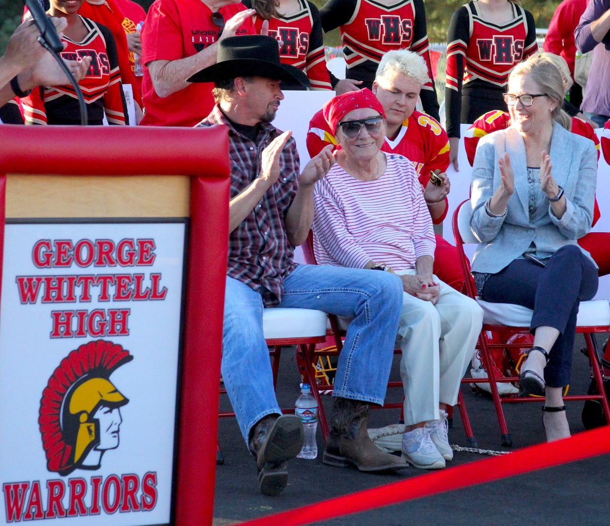 Lisa Maloff is celebrated for her huge donation to George Whittell High School.