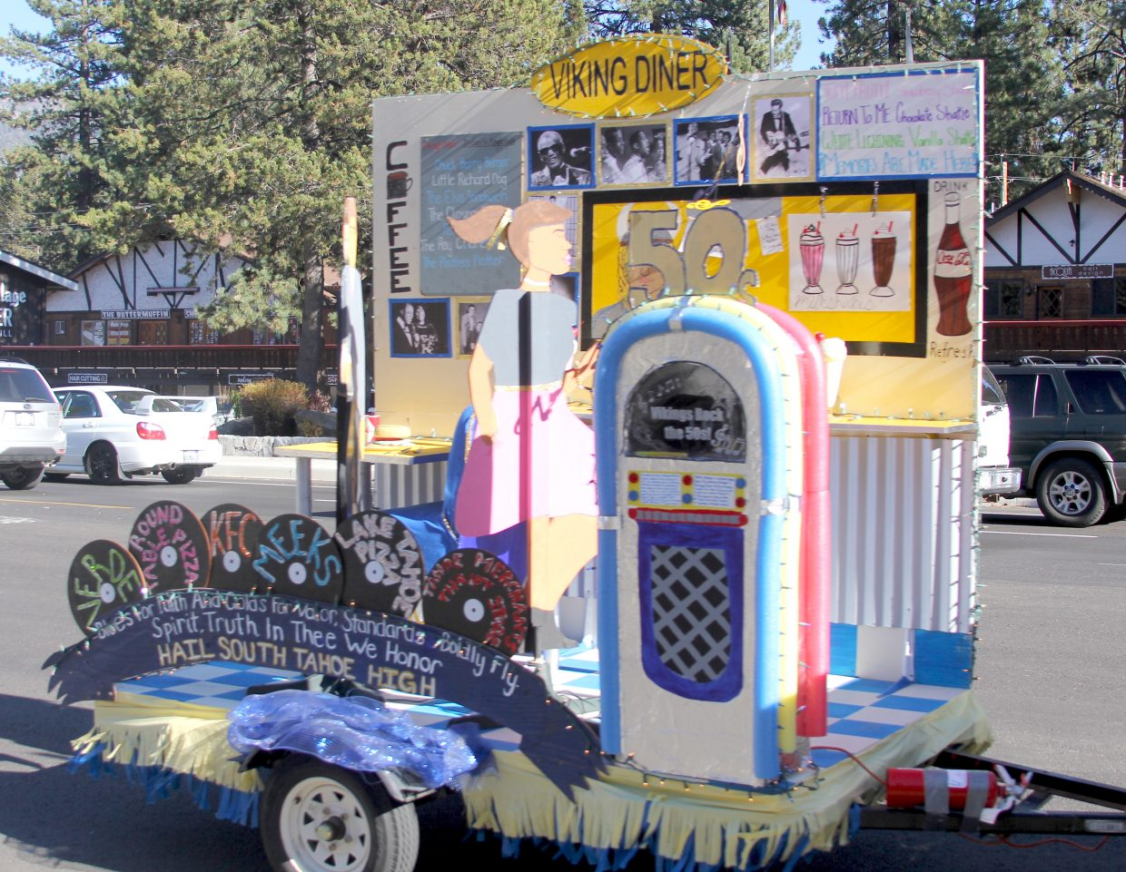 The South Tahoe senior float.