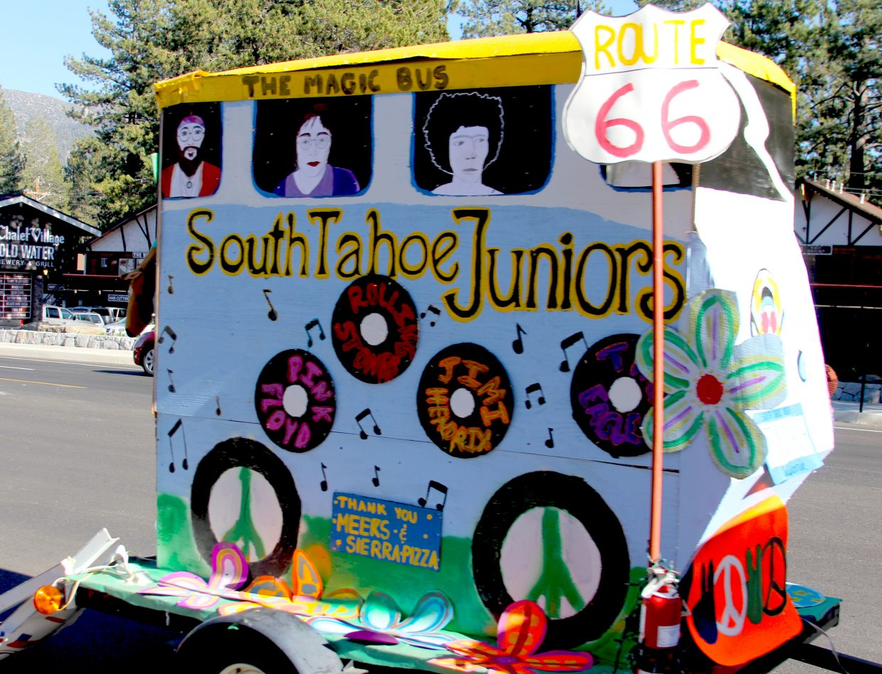 The South Tahoe junior float.