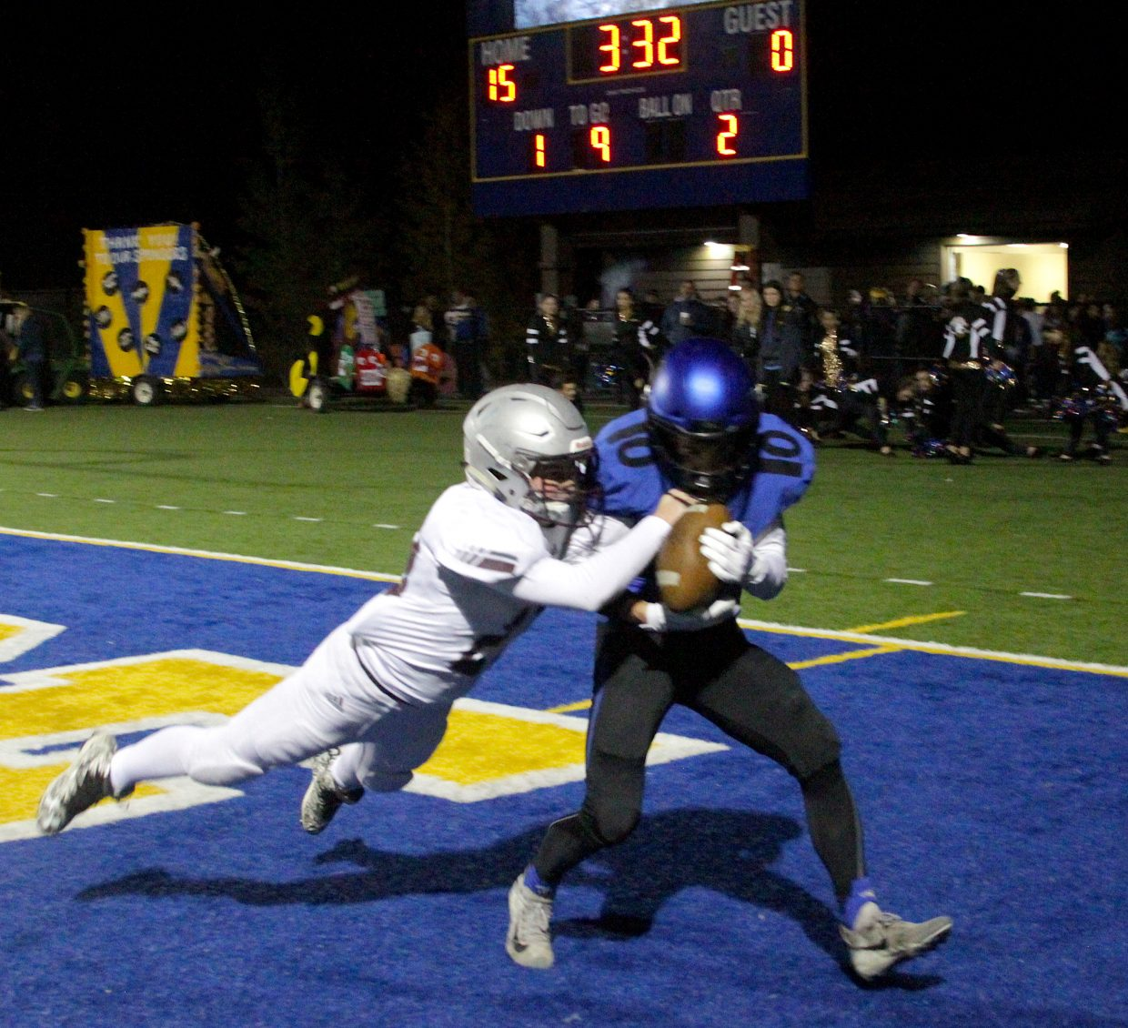 South Tahoe senior Kody Griffis hauls in a 26-yard touchdown pass from Jake Tarwater Friday night.