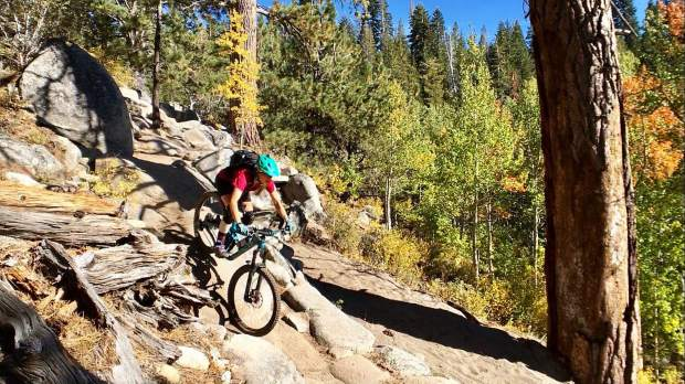 Are you in search for loose, sandy, dusty trail? We have found it in Tahoe and it kicks ass!