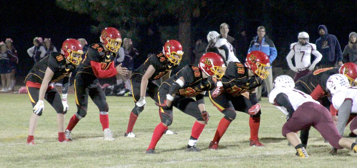 Whittell prepares to run an offensive play Thursday night.