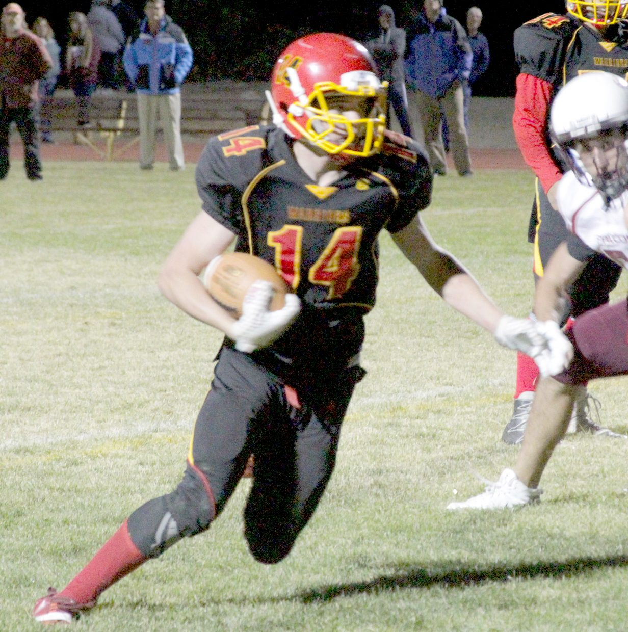 Whittell's Gunnar Barnwell runs for a chunk of yards.
