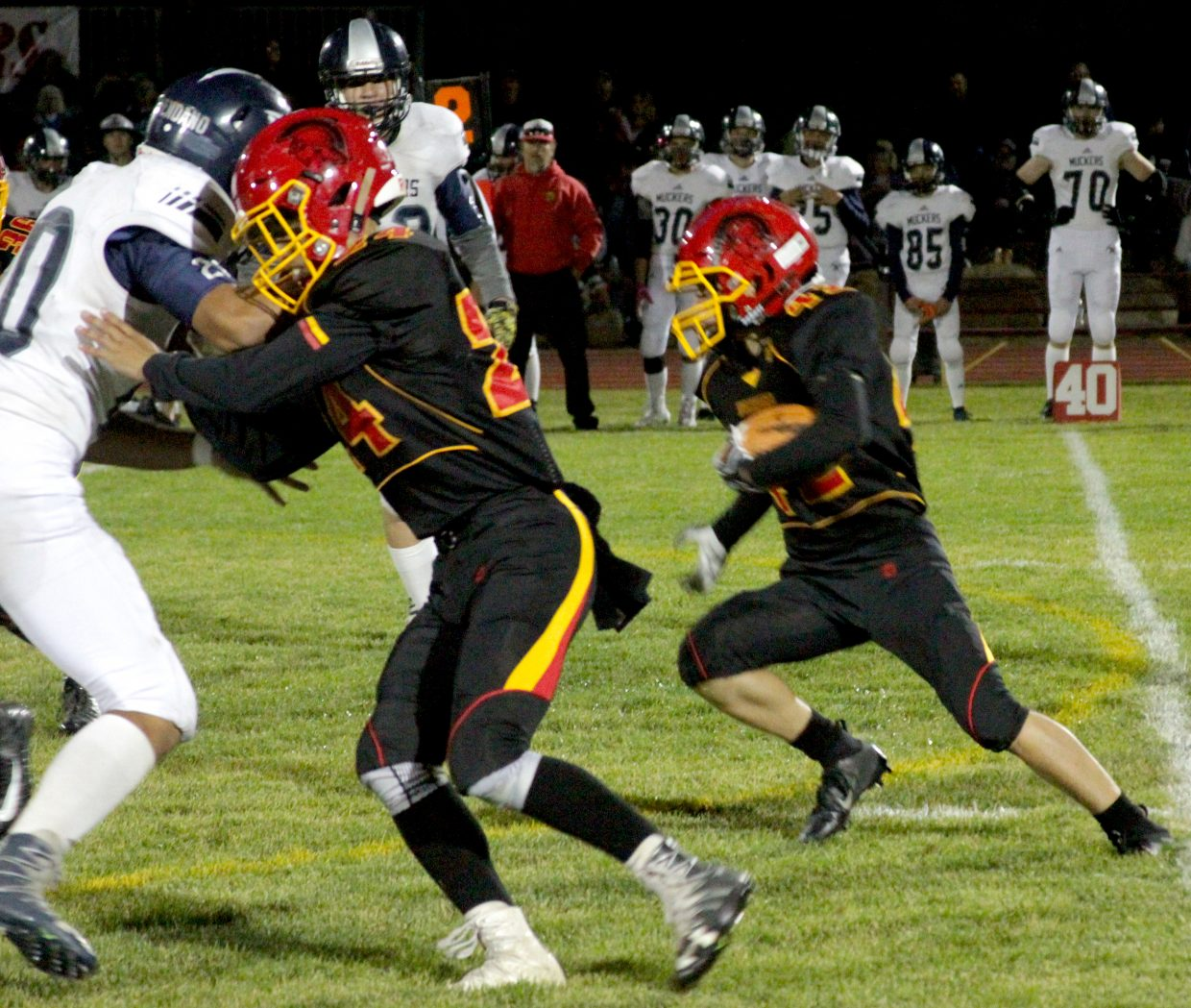 Whittell running back Jack White runs for a gain in the first half Friday night against Virginia City.