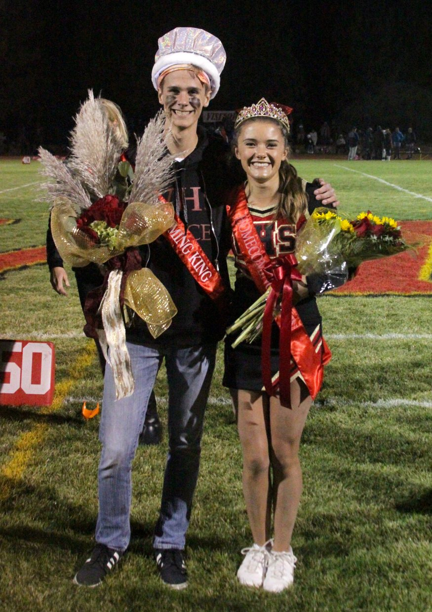 Whittell's homecoming king and queen, Ben Harrison and Anna White, were celebrated at halftime.