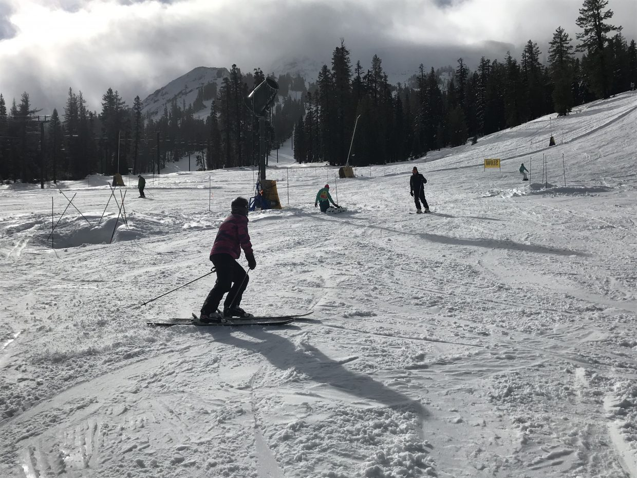 A storm brought about 25 inches of new snow to Kirkwood Mountain Resort leading up to opening day Saturday, Nov. 24.