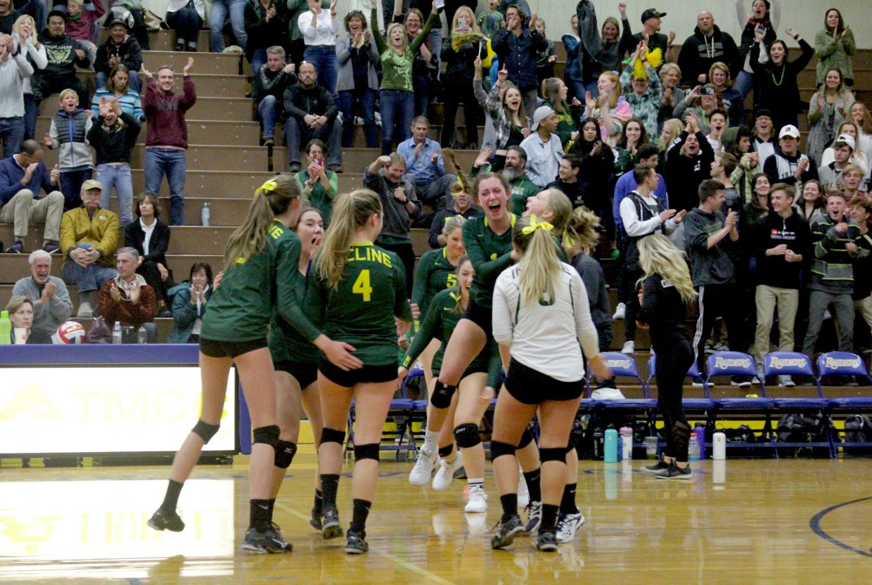 Incline celebrates winning a point.