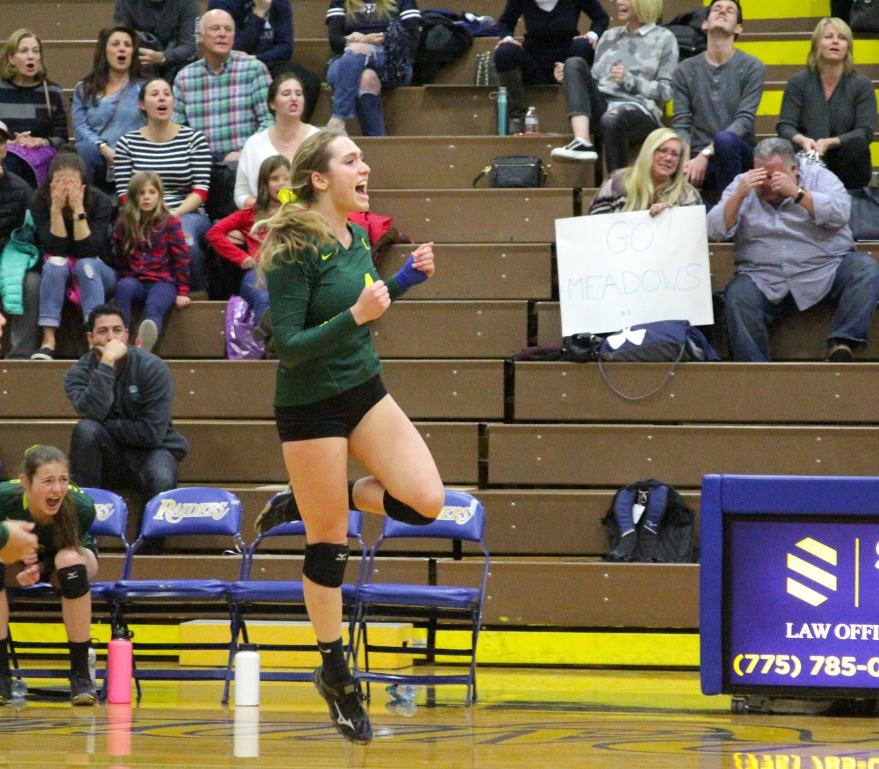 Incline's Chandler Cohn celebrates a point won.
