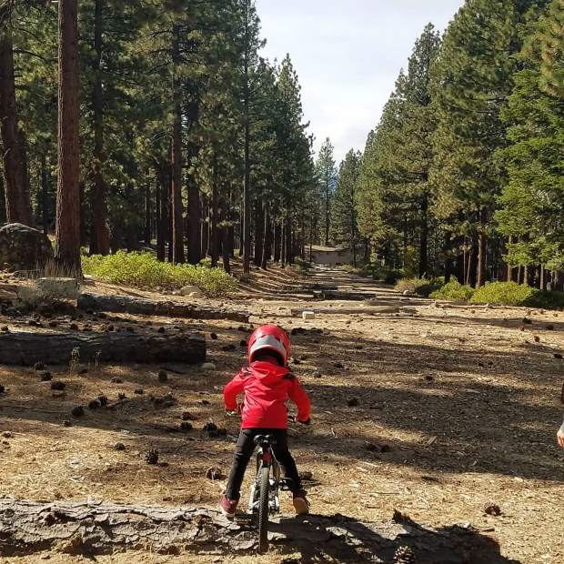 Bryce's biking adventures today. 1st a quick ride in the forest then racing on the track.