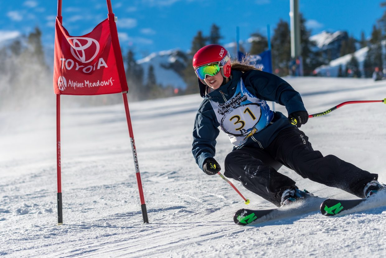 South Tahoe's Summer Furrer competes at Alpine Meadows.