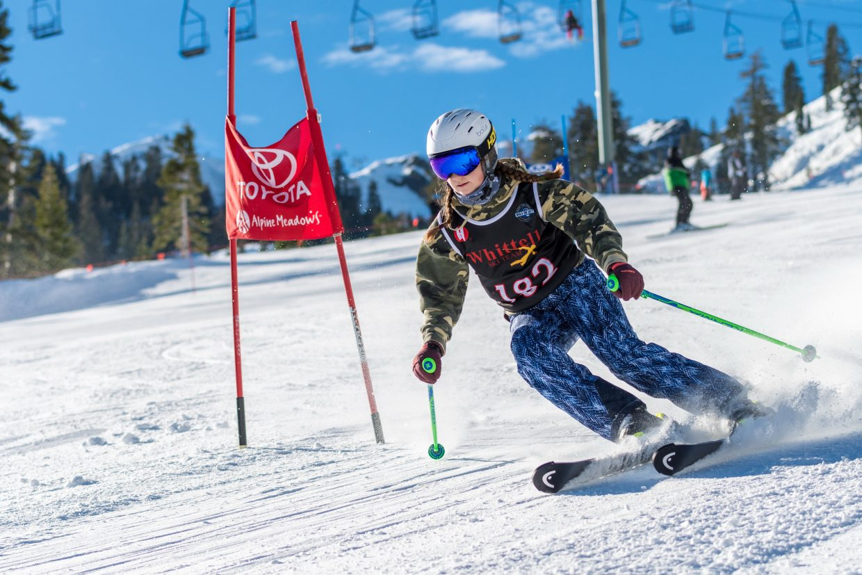 Whittell's Abrielle Goehring competes earlier this season at Alpine Meadows.