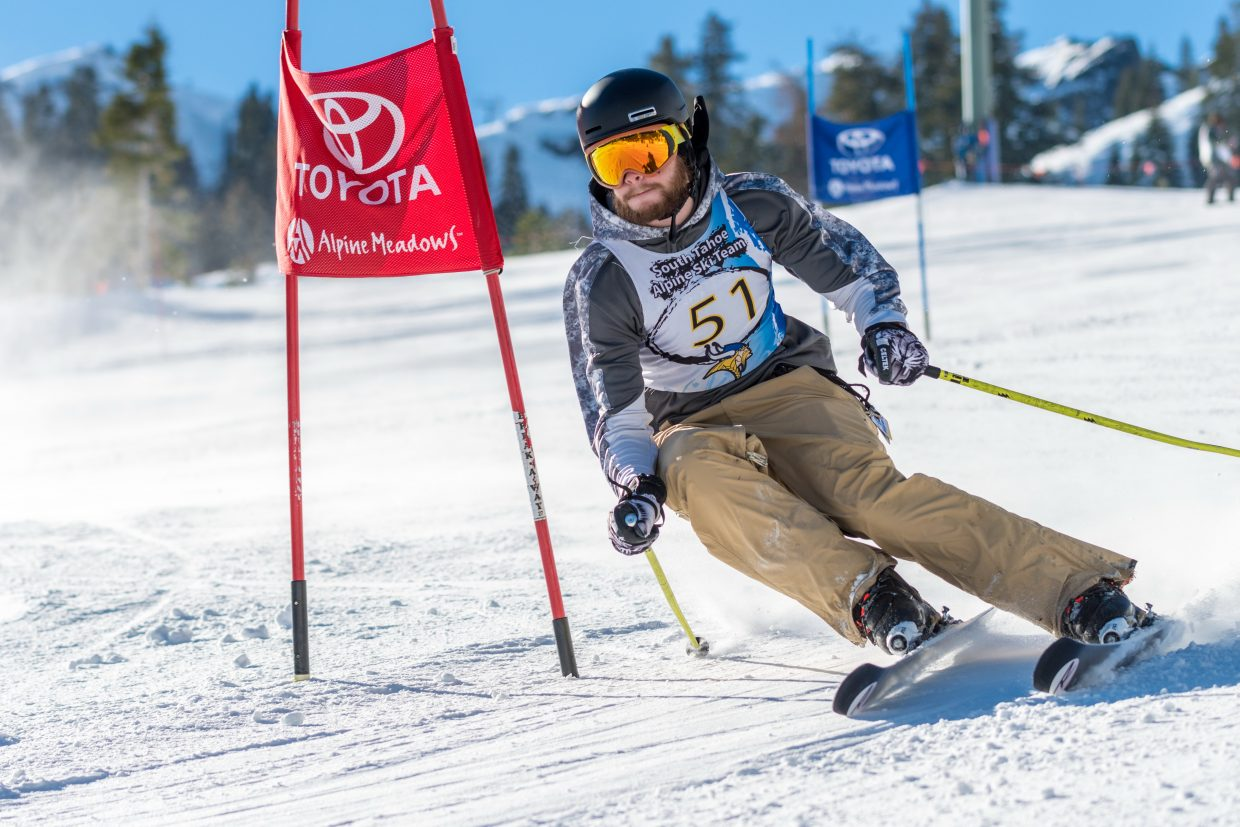South Tahoe's Cameron Grant races at Alpine Meadows.