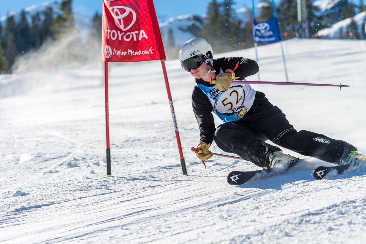 South Tahoe's Matt Sullivan finished sixth overall in the first league meet of the season at Alpine Meadows.