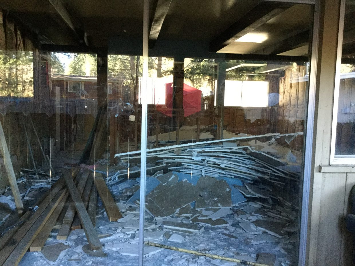 The building at 3546 Spruce Ave., is being condemned.
