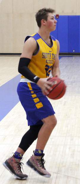 South Tahoe senior Kevin Lehmann gets ready to shoot Tuesday at practice.