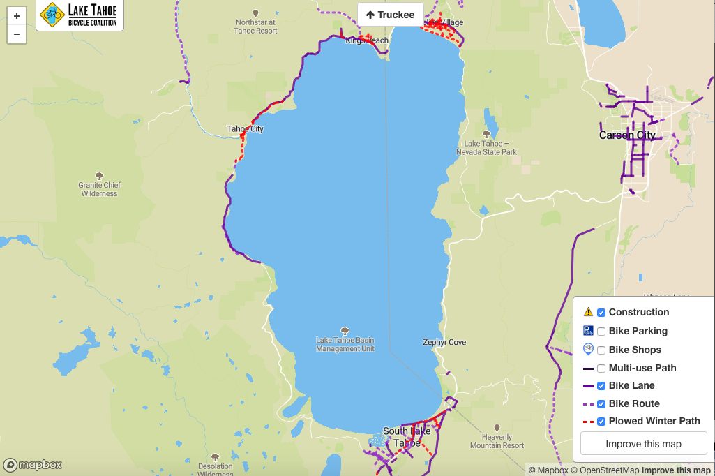 Lake Tahoe Bicycle Coalition releases online map of plowed ... on squaw valley map, lake berryessa map, lake winnebago map, lake toho map, virginia city map, salt lake map, grand canyon map, truckee river map, lake taho, lopez lake map, united states map, rocky mountains map, california map, carson city map, san bernardino mountains map, pyramid lake map, lakes in arizona map, los angeles map, mammoth lakes map, nevada map,