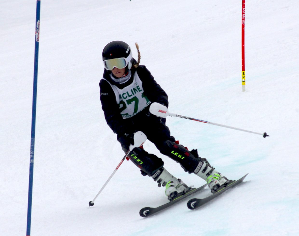 Incline's Brenna Ritchie speeds down the slalom course at Heavenly.