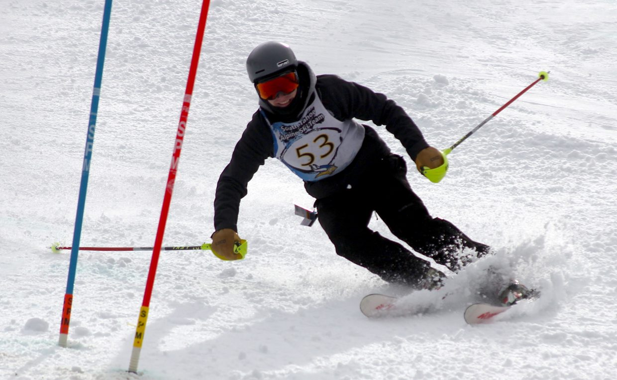 South Tahoe's Aaron Johnson competes at Heavenly Mountain Resort.