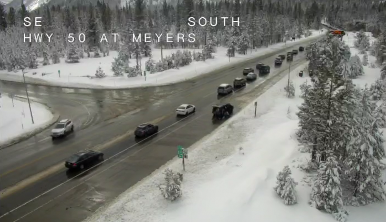 The view from U.S. 50 in Meyers around 1 p.m. Monday.