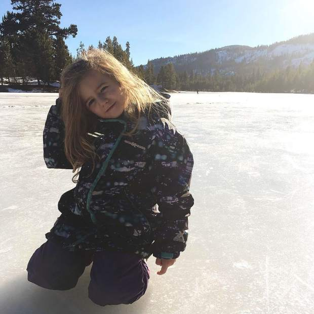 A few days of cold temps and Lake Baron is a frozen icescape, full of sliding kids!