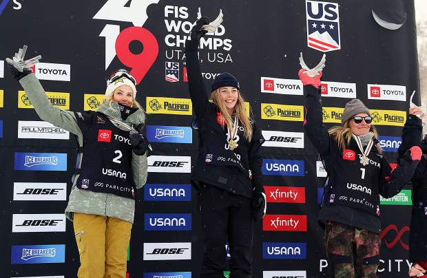 Tahoe's Jamie Anderson uses World Champs podium to denounce FIS president for climate change remarks