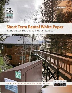 Mountain Housing Council releases report on short-term rentals in North Lake Tahoe, Truckee