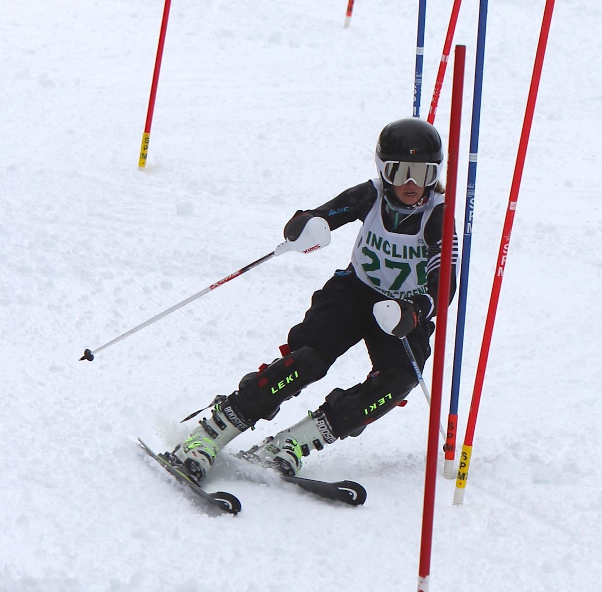 Incline's Brenna Ritchie speeds her way to fifth place Monday in the state alpine slalom championships at Sierra-at-Tahoe.