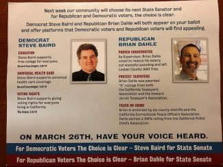 Voters: Political mailer supporting Dahle for California state Senate 'incredibly deceptive'