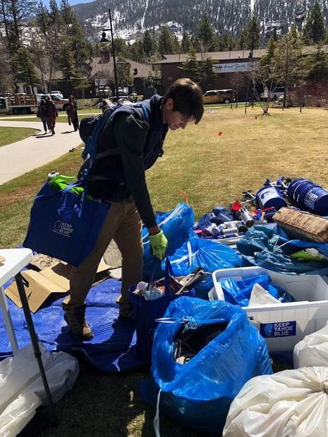 Volunteers remove 750 pounds of trash during South Lake Tahoe Earth Day Cleanup