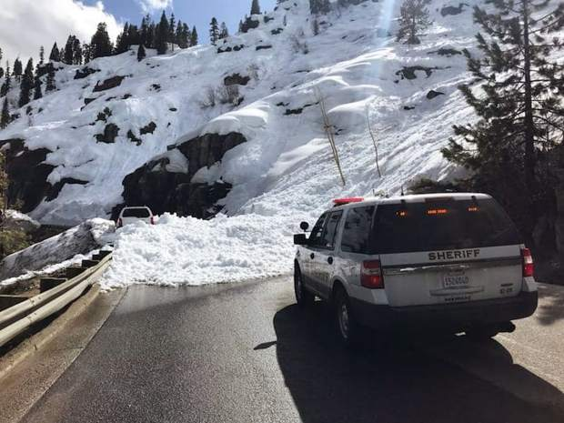 The El Dorado County Sheriff's Office responded to an avalanche Sunday, April 7. It was the second snow slide on U.S. 50 in less than a week.