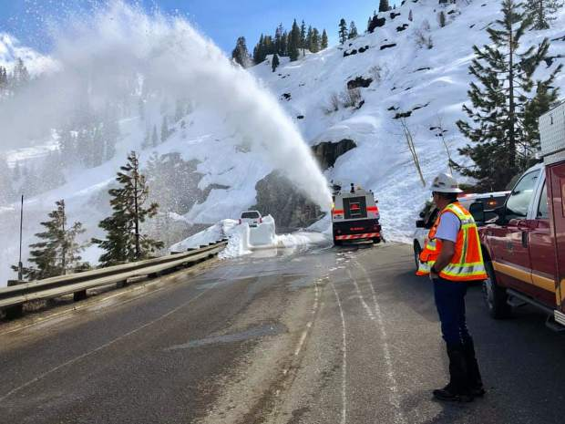 Caltrans says it conducted nearly three times more avalanche missions this past winter compared to the winter of 2017-18.