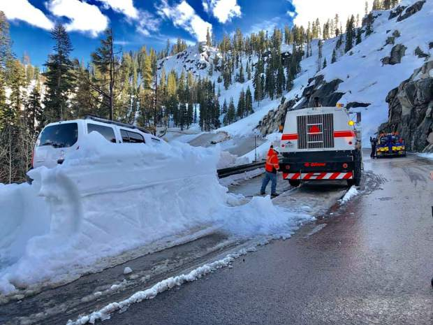 If you are stuck in an avalanche, turn the vehicle off and remain inside until help arrives.