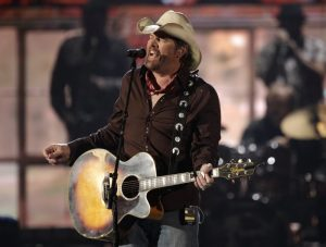Country star Toby Keith playing in Lake Tahoe celebrity golf tournament