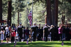 American Legion Post 795 preparing for Memorial Day ceremony in South Lake Tahoe
