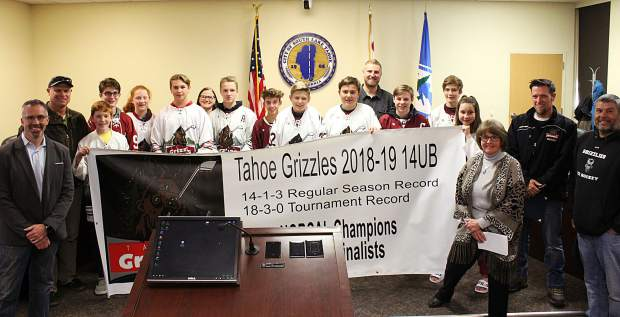 South Lake Tahoe City Council recognizes Tahoe Grizzlies 14U bantam hockey team
