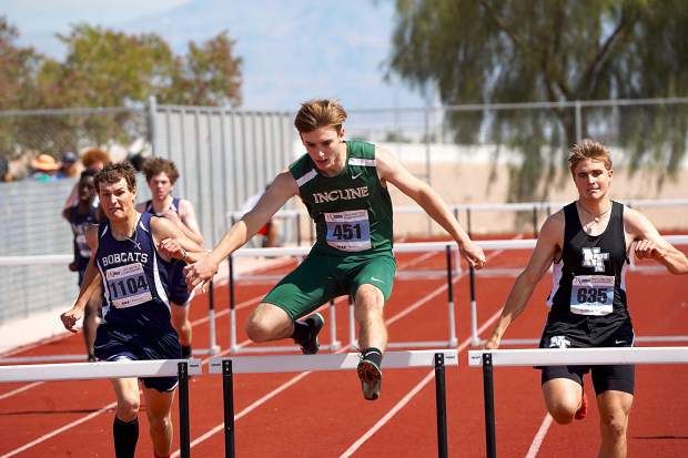 Incline's Brayden Snearly delivers a personal best in becoming the state champion in the 300-meter hurdles.