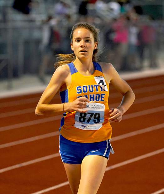 Carissa Buchholz collected state titles for the second straight year in teh 800-, 1,600-, 3,200-meter runs.