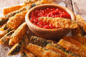 Callie's Cabin: Baked zucchini cheese sticks (recipe)