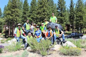 Volunteers complete Incline Village roundabout beautification project