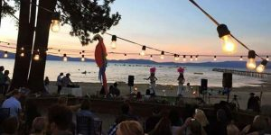 Beach Retreat & Lodge at Lake Tahoe hosting summer luau