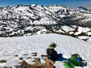 Sonora Pass offers summertime backcountry skiing a short drive down US 395