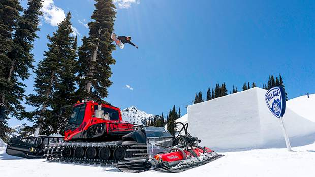 Diamond Peak Ski Resort's Village Park Terrain Crew was invited to SuperPark 22.