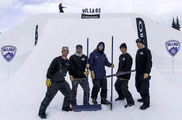 Diamond Peak's Village Park Terrain Crew was invited in April and May to build at the prestigious Superpark 22 event in Crystal Mountain, Washington.